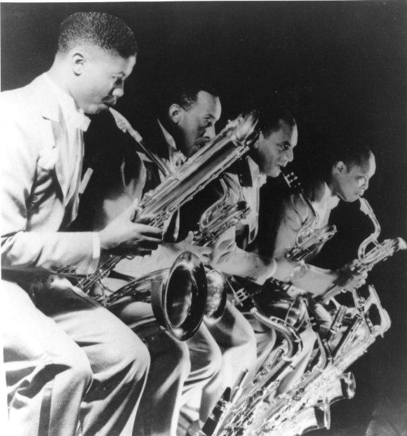 Walter Thomas, Andrew Brown Arville Harris, Eddie Barefield in 1934