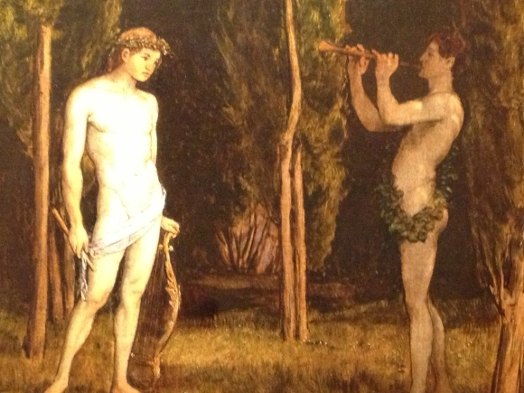 "Detail from ""Apollo and Marsyas,"" Hans Thoma (1888)"
