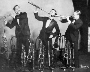 Pollack Reed Section c. 1927: Benny Goodman, Fud Livingston and Gil Rodin