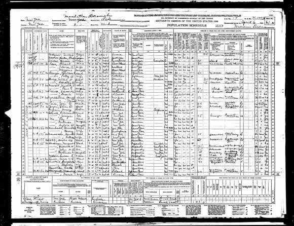 1940 US Census per AncestryDotCom