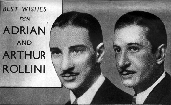 Adrian and Art Rollini 1937 care of Colin Aitchison via Flickr