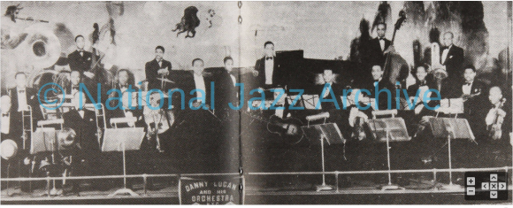 Storyville magazine 12-01-1989 with photo of Ben Whitted in Danny Logan Orch mid 30s via Frank Driggs